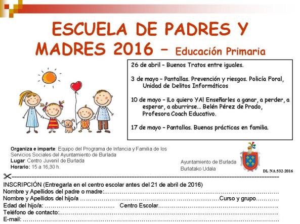 Folleto E. PRIMARIA 2016