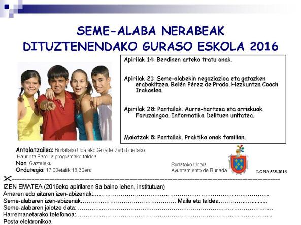 Folleto E SECUNDARIA euskera 2016